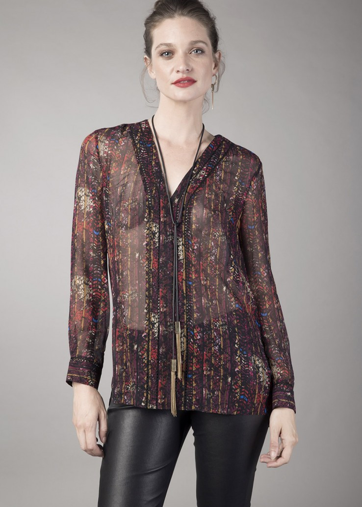 69ab628a5c29 Georges Rech Bohemian Silk Blouse  Pre-Fall 2017 - Vivaldi Boutique