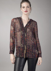 Georges Rech Bohemian Silk Blouse: Pre-Fall 2017