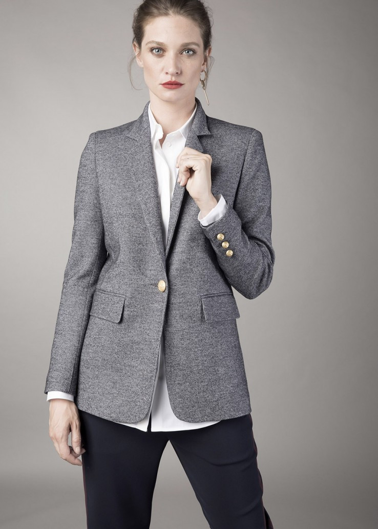 8f45ff1573bc Georges Rech Mixed Wool Suit Jacket  Pre-Fall 2017 - Vivaldi Boutique