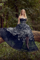 Marchesa Spring / Summer 2019 Black Net Ballgown