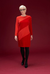 Algo Of Switzerland Velvet Stripe Dress