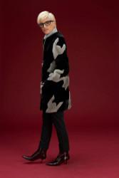 Algo Of Switzerland Mink Houndstooth Fur Coat