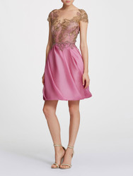 Marchesa Orchid Organza Cocktail