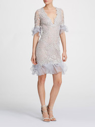 Marchesa Corded Lace Cocktail
