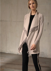 Georges Rech Fringed Edges Wool Coat