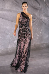 Naeem Khan Assymetric Star-Embellished Gown