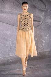 Naeem Khan Jewel-Embellished Pleated Midi Dress