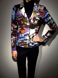 Escada Multi-Print Jersey Jacket