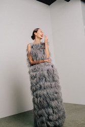 Catherine Regehr Tiered Feather Sheath