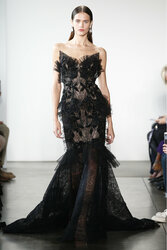 Pamella Roland Black Lace Gown