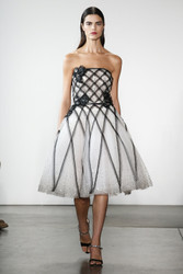 Pamella Roland Tulle Cocktail Dress