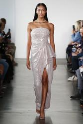 Pamella Roland Gold Strapless Gown