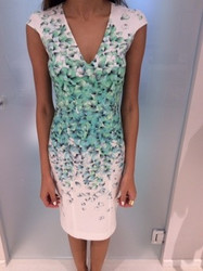 Blumarine Green and White Patterned Dress