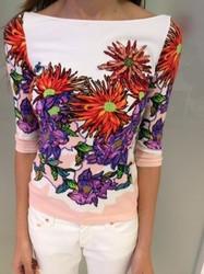 Blumarine Floral Pattern Blouse
