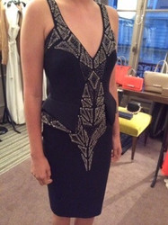 Amanda Wakely Black Patterned Sleeveless Dress