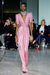 Naeem Khan V-Neck Sequin Jumpsuit