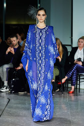 Naeem Khan Navy Embroidered Caftan