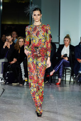 Naeem Khan Embroidered Top and Pant