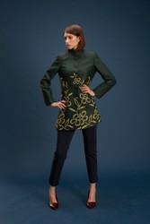 Algo Of Switzerland Green Cashmere Equestrian Jacket