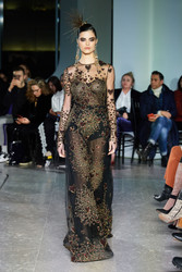 Naeem Khan Heart Embroidered Gown
