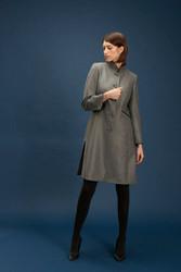 Algo Of Switzerland Gray Knee-Length Cashmere Blazer