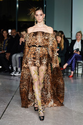 Naeem Khan Animal Printed Dress