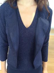 Giorgio Grati Blue Waist Length Jacket and Blouse