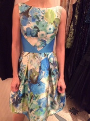 Theia Blue Floral Dress