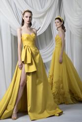 Tony Ward Look 23: Strapless Sweetheart Mango Dress
