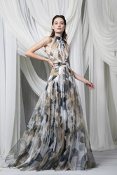 Tony Ward Look 18: Printed Tulle Dress