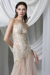 Tony Ward Look 15: A-Line Gold Tulle Dress