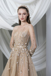 Tony Ward Look 14: Gold Tulle Dress
