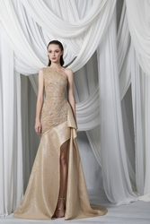 Tony Ward Look 13: One Shoulder Organza Cloquée Dress