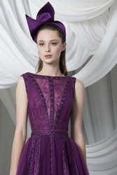 Tony Ward Look 11: A-line Tulle and Lace Midi Dress