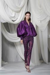 Tony Ward Look 10: Plum Pantsuit