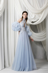Tony Ward Look 5: Sky Blue Tulle Dress