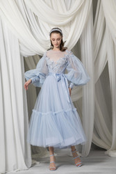Tony Ward Look 4: Sky Blue Edwardian Tulle Dress