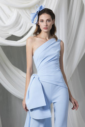 Tony Ward Look 3: Asymmetric Sky Blue Jumpsuit