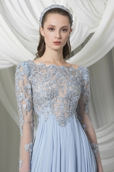 Tony Ward Look 2: Empire Sky Blue Georgette Skirt