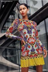 Naeem Khan Lilac Multi Embroidered Dress