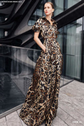 Naeem Khan Leopard Gown