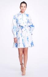 Marchesa Printed Cotton Shirt Dress