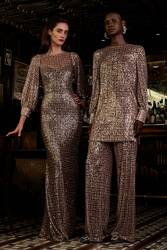 Badgley Mischka Fall 2021 Evening Wear Look 12