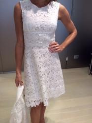 Clips White Sleeveless Dress