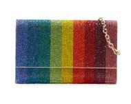 Judith Leiber Fizzoni Rainbow Crystal Full-Beaded Clutch Bag