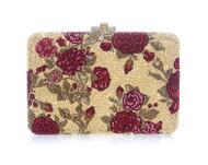 Judith Leiber Slim Slide Las Rosas Crystal Clutch Bag