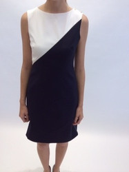 Rena Lange Black and White Sleeveless Dress