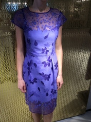 Escada Blue Floral Dress