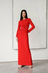 Catherine Regehr Jewel Neck Bloom Gown