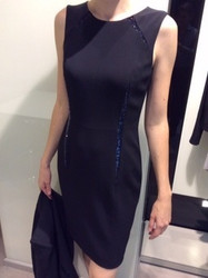 Georges Rech Black Sleeveless Dress